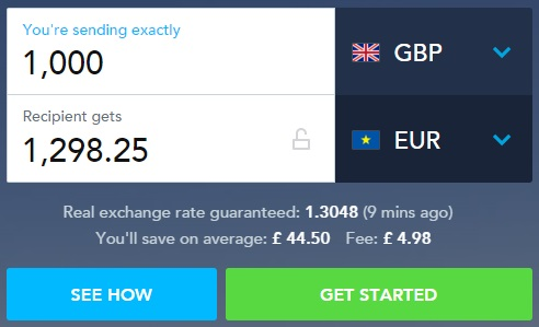 Převod z GBP na EUR